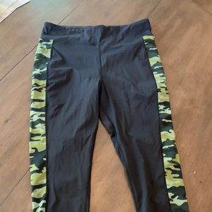 2x Black and green camo LuLaRoe workout pants